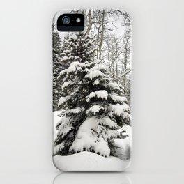 Carol M Highsmith - Snowy Pine Trees iPhone Case