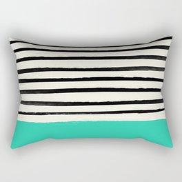 Mint x Stripes Rectangular Pillow
