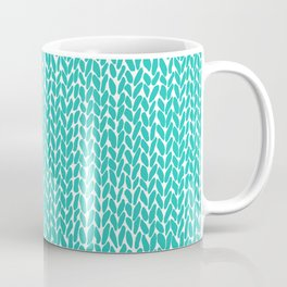 Hand Knit Aqua Coffee Mug