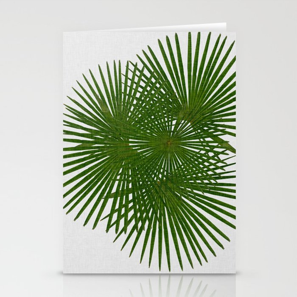 Fan Palm, Tropical Decor Stationery Cards