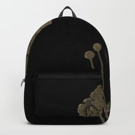 Black And Gold Poppies Backpack