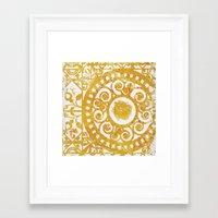 damask Framed Art Prints featuring Damask by studioDarcy