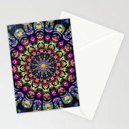 PSYCHEDELIC EARTH MANDALA Stationery Cards