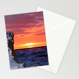 Golden Sunset on Sea and  Snow Stationery Cards