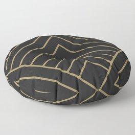 Diamond Series Pyramid Gold on Charcoal Floor Pillow