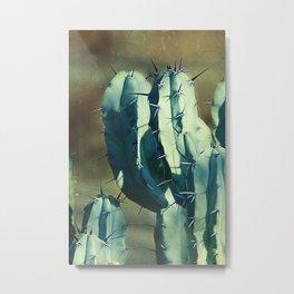 Cactus Morning Light Metal Print