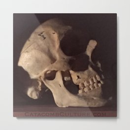 Catacomb Culture - Real Human Skull Oddity Metal Print