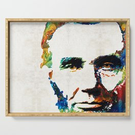 Abraham Lincoln Art - Colorful Abe - By Sharon Cummings Serving Tray