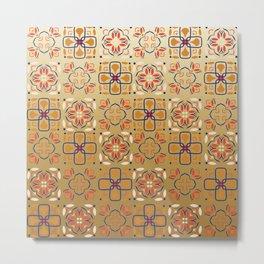 Arabic, Portugal, Morocco, Ceramic, Azulejo,Vintage, Abstract, old Metal Print