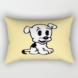 Pudgy, Mrs Boop Puppy companion, Design for Wall Art, Prints, Posters, Tshirts, Men, Women, Kids Rectangular Pillow