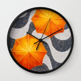 Rain in Copocabana Wall Clock