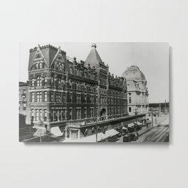 1897 Hotel Dorrance & Providence City Hall, Providence, Rhode Island Metal Print