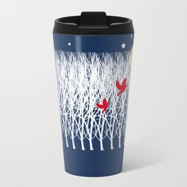 Red Doves and the golden moon Travel Mug