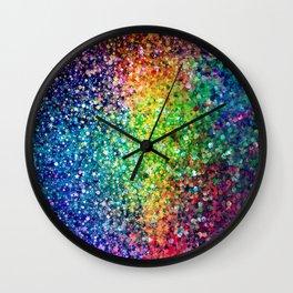 Colorful faux glitter print Wall Clock