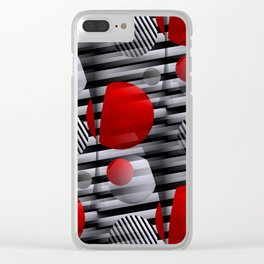 3D - abstraction -38- Clear iPhone Case