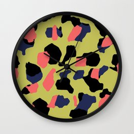 Yellow Camo Wall Clock