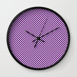Seance and White Polka Dots Wall Clock