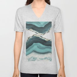 Sea Agate Unisex V-Neck