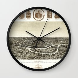 Dallas-Texas-1892 Wall Clock
