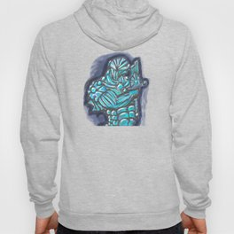 Cyberpunk Power Armor Android with Broken Sword Hoody