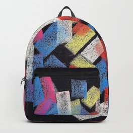 Multicolor construct Backpack