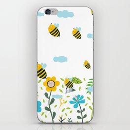 Bee Flaying iPhone Skin