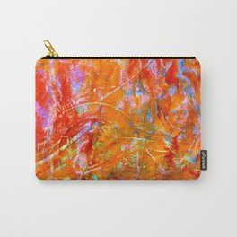 Abstract with Circle in Gold, Red, and Blue Carry-All Pouch