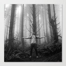 Metal Moment: Woods Canvas Print