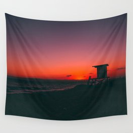Sunset Beach CA Wall Tapestry