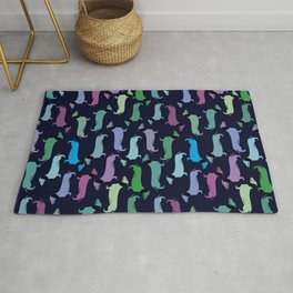 Colorful dachshunds Rug