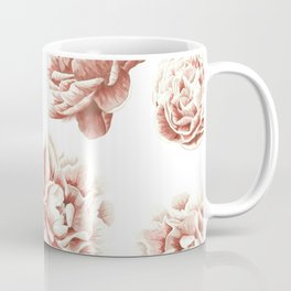 Rose Garden Vintage Rose Pink Cream and White Coffee Mug