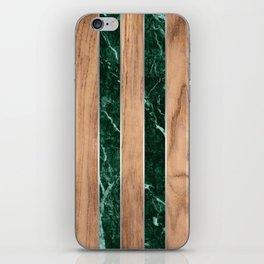 Wood Grain Stripes - Green Granite #901 iPhone Skin