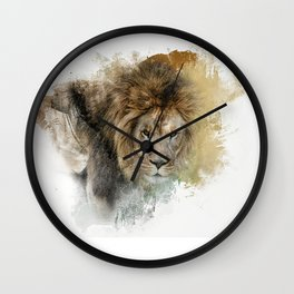 Expressions Lion Wall Clock