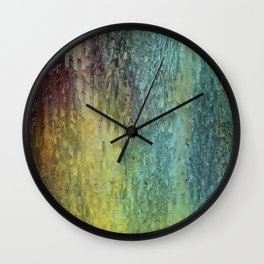 Pine bark Wall Clock