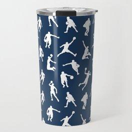Basketball Players // Navy Travel Mug