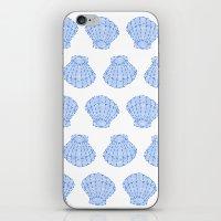 shells iPhone & iPod Skins featuring Shells by BIGEHIBI