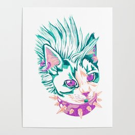 Punk Cat Poster