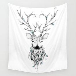 Poetic Deer Wall Tapestry
