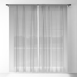 Gray Light Ombre Sheer Curtain