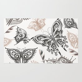 Butterfly design classic elegant graphic design Rug