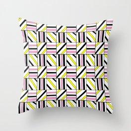 symetric tartan and gingham 2 -vichy, gingham,strip,square,geometric, sober,tartan Throw Pillow