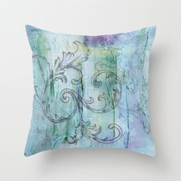 French Country Scroll Throw Pillow