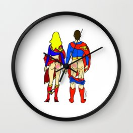 Superhero Butts Love 1 - Super Birds Wall Clock