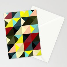 Diagonal triangle pattern Stationery Cards