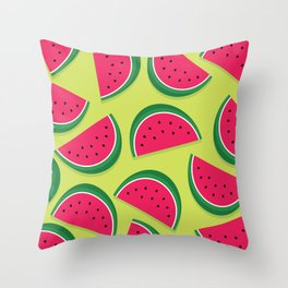 Juicy Watermelon Slices Throw Pillow