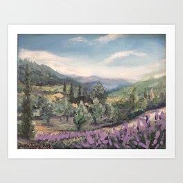 Lavender, Pernes-les-Fontaines Art Print