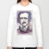 edgar allan poe Long Sleeve T-shirts featuring Edgar Allan Poe by Germania Marquez