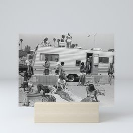Vintage Camper Beach Mini Art Print
