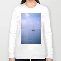 sailboat Long Sleeve T-shirts featuring Sailboat by lennyfdzz