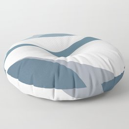 Mountain and rising sun Floor Pillow